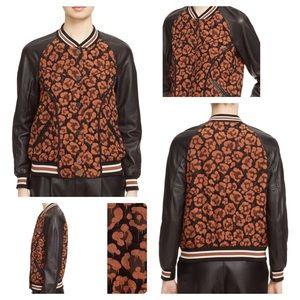 ⬇️ $370 | Coach Wild Beast Leather Varsity Jacket